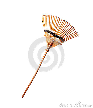 Free Wooden Rake Isolated Royalty Free Stock Photography - 75792397