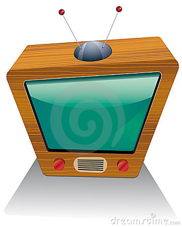 Wooden retro tv