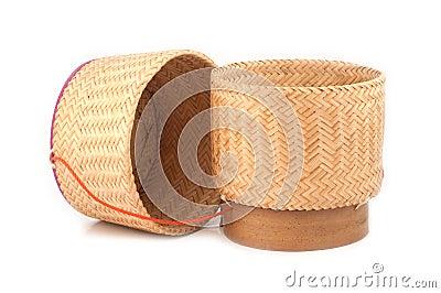 Wooden rice box thai style