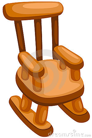 Rocking Chairs on Illustration Of Isolated Wooden Rocking Chair On White Background