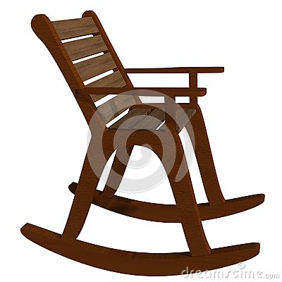 Stock Images: Wooden rocking chair side view. Image: 14735244