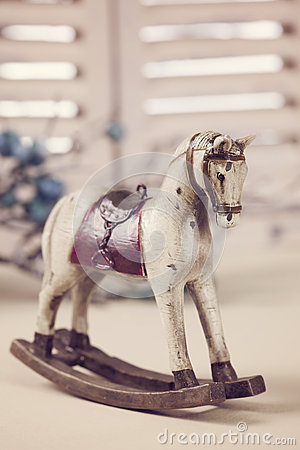 Free Wooden Rocking Horse Royalty Free Stock Images - 33464369