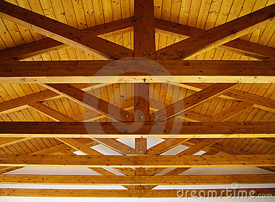 Wooden Roof Beams Stock Photography Image 7285582