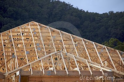 Wooden Roof Frame Stock Photography - Image: 13414472