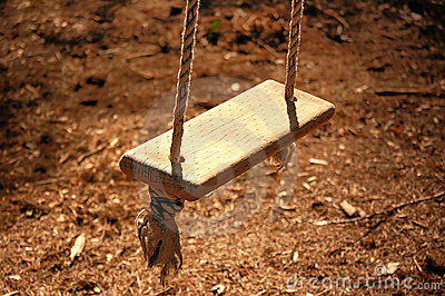 Wooden Rope Swing