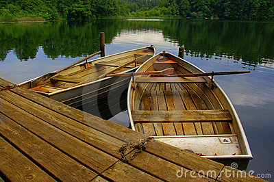 Wooden rowing boats