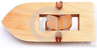 Wooden Rubberband Powered Paddleboat