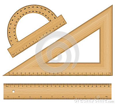 Free Wooden Ruler Instruments Stock Images - 34141124