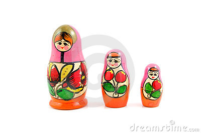 Wooden Russia matryoshka dolls