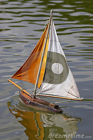 Wooden sailing boats in jardin des tuileries paris france