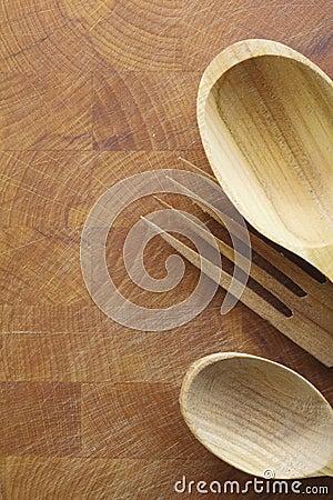 Wooden salad servers