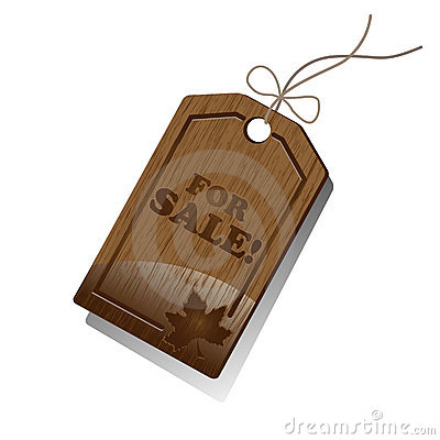 Wooden Sales Tag