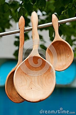 Wooden scoops