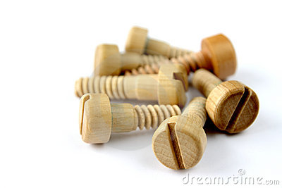 Wooden screw bolts stock photos image 7976733 for Tornillos para madera