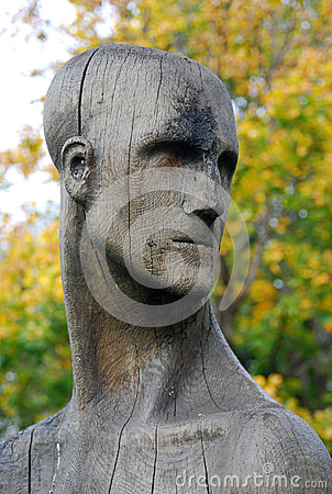 Wooden sculpture composition by E. Chubarov Editorial Photo