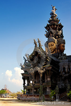 Wooden Sculpture Pattaya Sanctuary of Truth Thaila