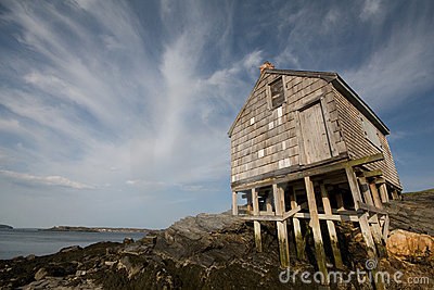 Wooden shack on the beach