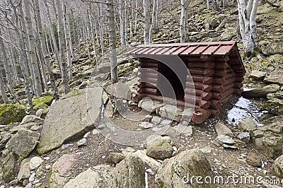 Wooden shelter