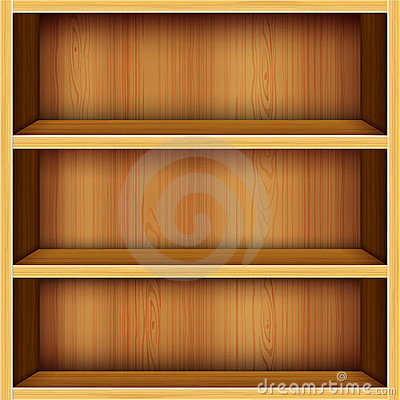 Free Wooden Shelves Background Royalty Free Stock Photography - 23792977