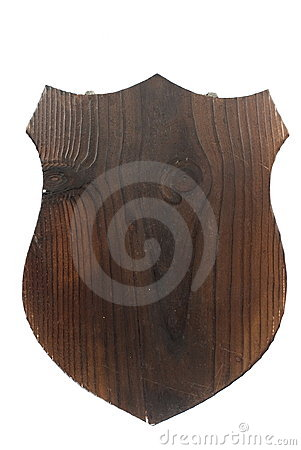 Free Wooden Shield Plaque Royalty Free Stock Image - 6074696