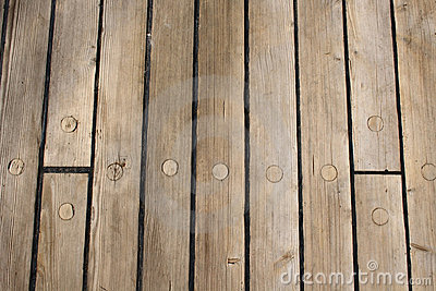 Wooden ship deck