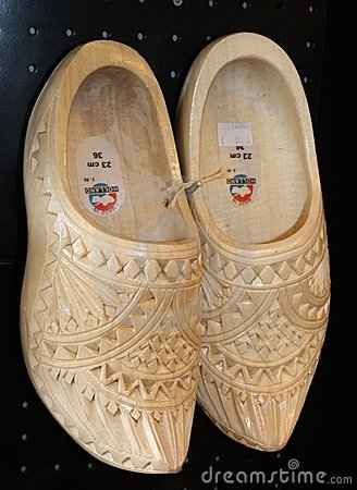 Wooden Shoes for wedding, Amsterdam, Holland