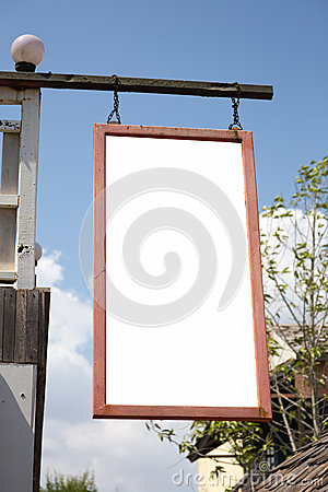 Free Wooden Shop Sign. Useful For Your Advertisement Stock Photos - 39834173
