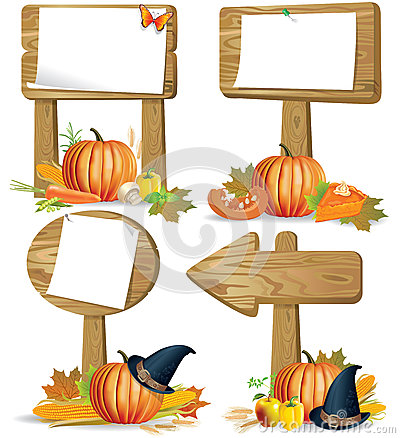 Free Wooden Sign Boards Thanksgiving Royalty Free Stock Photo - 25864585