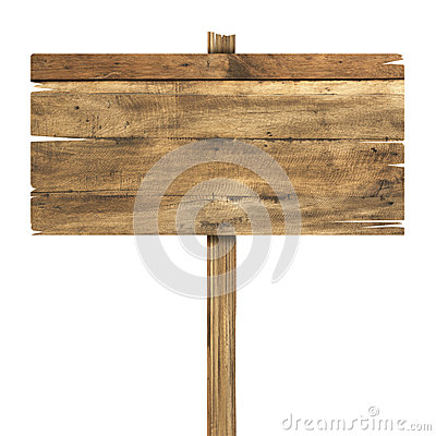 Free Wooden Sign Isolated On White. Wood Old Planks Sign Stock Photo - 45600530