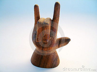 Wooden Sign Language Symbol