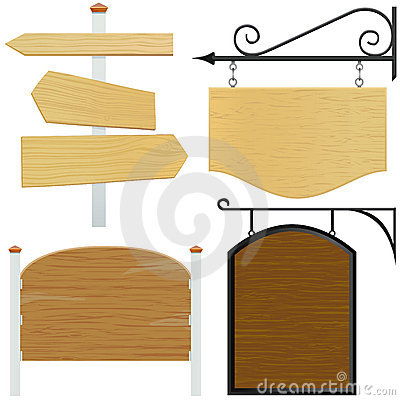 Free Wooden Sign Vector Royalty Free Stock Images - 6999449