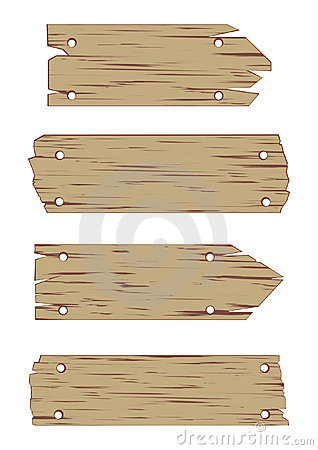 Free Wooden Sign Vector Set Stock Photos - 6625413