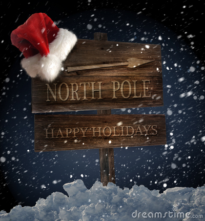 Free Wooden Sign With Santa Hat Stock Images - 16733194