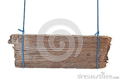 Wooden signboard