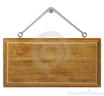 Free Wooden Signboard Royalty Free Stock Photography - 22937997