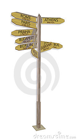 Wooden Signboard Europe Stock Photography - Image: 10513532