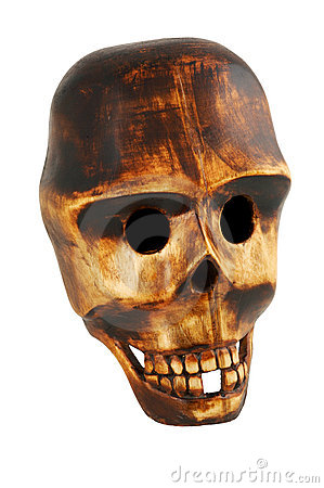 Free Wooden Skull Royalty Free Stock Images - 7664849
