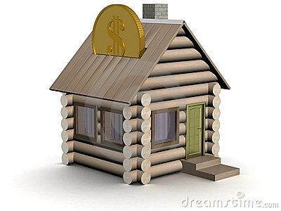 Wooden small house a coin box.