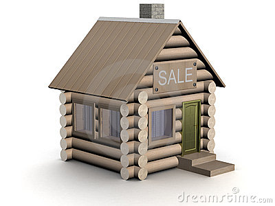 Wooden small house. The isolated illustration.