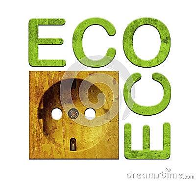 Wooden socket - green energy