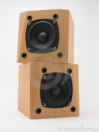 Wooden speakers