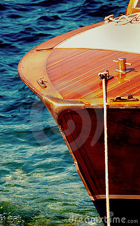 Free Wooden Speed Boat Bow Royalty Free Stock Photos - 13560488