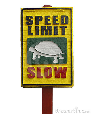 Wooden Speed Sign