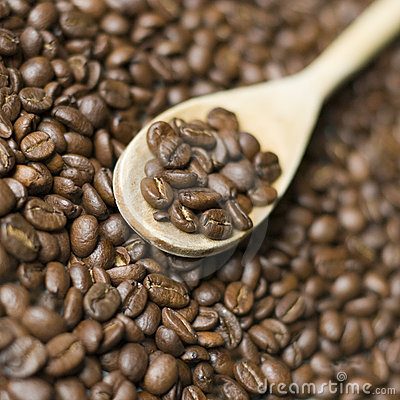 Free Wooden Spoon And Coffee Stock Photos - 3845053