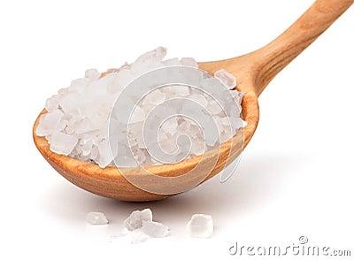 Wooden spoon fool with salt