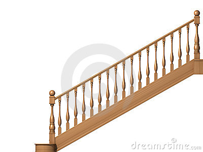 Wooden Stairs Royalty Free Stock Image - Image: 12079496