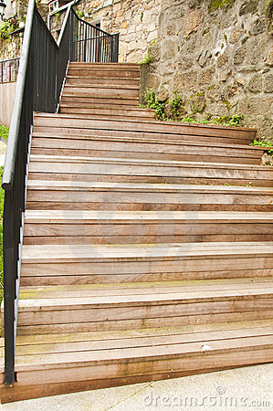 Wooden Stairs Royalty Free Stock Images - Image: 13332569