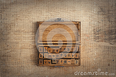 Wooden Stamps Alphabet Stock Photo Image 60203647