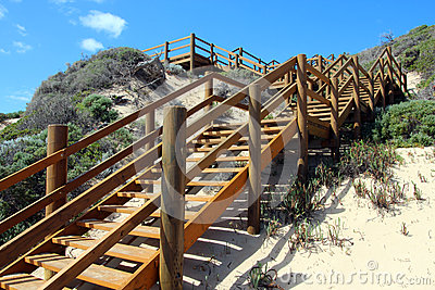 Wooden Steps Moses Rock south western Australia