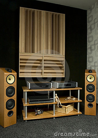 Wooden styled hi-fi system